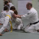 Тренировки для детей (общий курс) Тренировки нацелены на то,чтобы ребенок в возрасте 10-13 лет независимо от уровня физического развития, смог эффективно овладеть основами айкидо.  Тренировки проходят 3 раза в неделю. Длительность — 1 час.